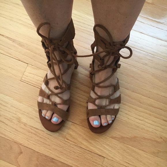 Gladiator Suede Sandals